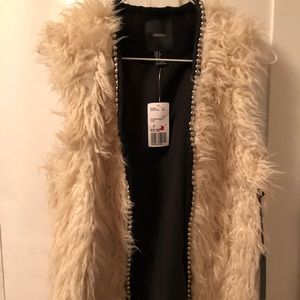 Forever 21 Cream Feathery Vest